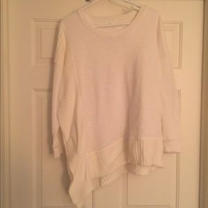 Asymmetrical White Sweater
